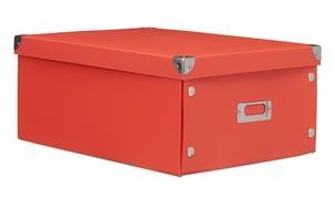 A4 Kartonnen Opbergbox Rood